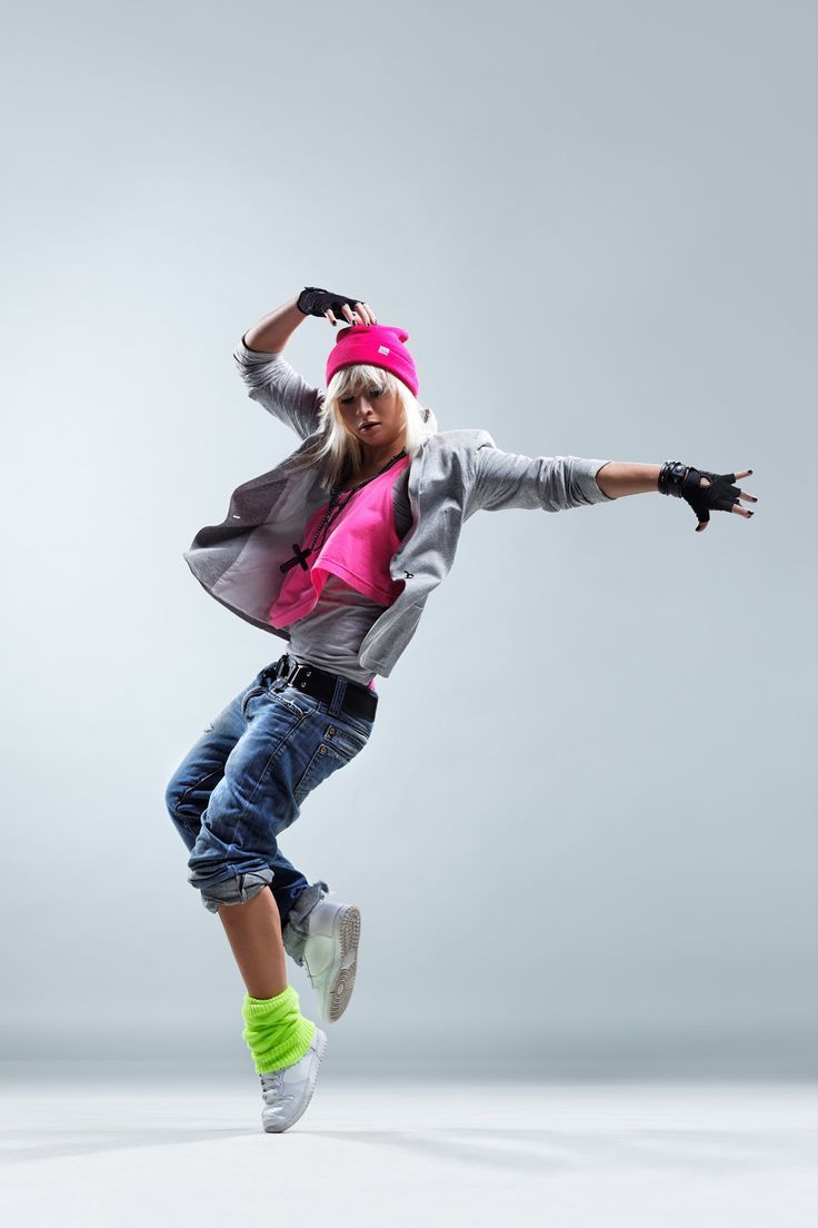 For hip hop dance. Remove the pink vest and hat, plus the gaudy necklace and we're set!
