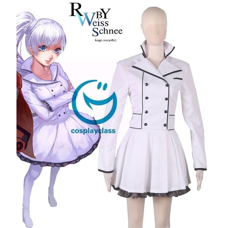 RWBY Season 2 White Weiss Schnee Lolita Dress Anime Cosplay Costume  #rwby #weissschnee #cosplay #costume