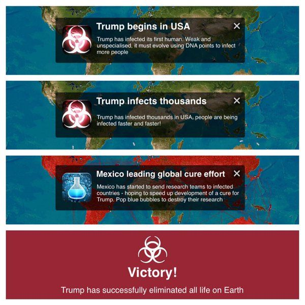 Trump is the most popular name in Plague Inc at the moment according to the developer