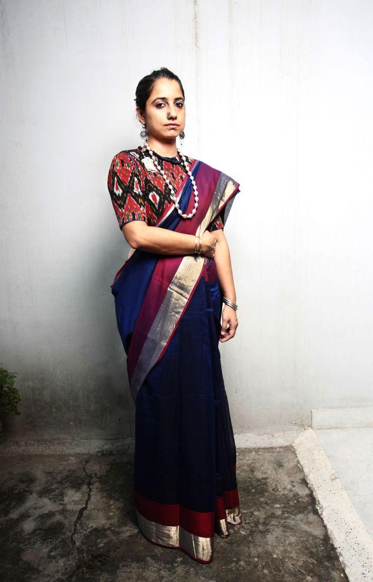 Ecoloom saree #handwoven #handloom #iwearhandloom #artisanal #sari