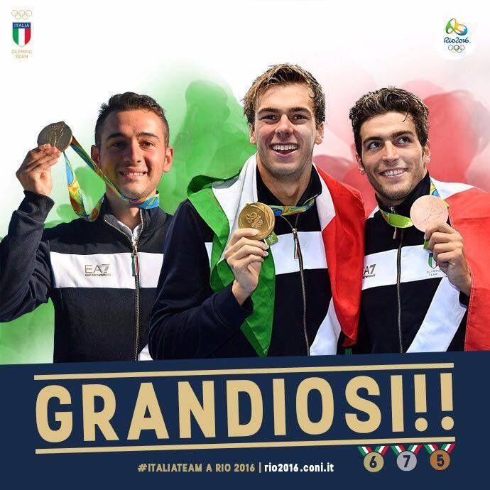 Giovani, appassionati, determinati: grandi campioni! Grazie Gabriele Rossetti, Gregorio #Paltrinieri e Gabriele #Detti!