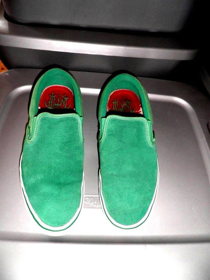 RARE Vans TNT III Green Suede Leather Slip On Skate Shoes Size 10.5 #Vans #TNTlll