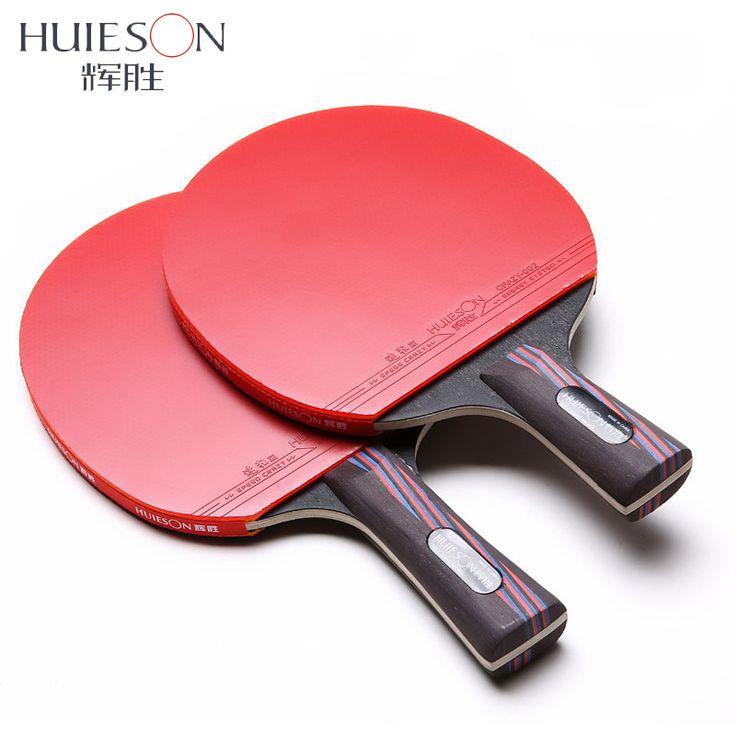 Huieson Fiber De Carbone Tennis De Table Raquette Double Visage Boutons-en Raquette En Caoutchouc Tennis De Table Bat avec Sac Top Recommandé