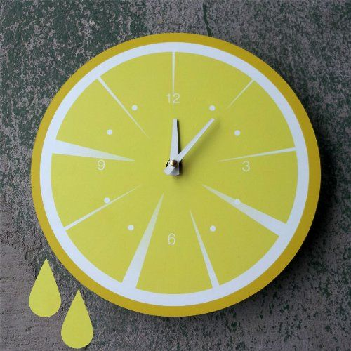 Lemon Slice Kitchen Clock, yellow, Kitchen Clock CQ Decor CQ Decor,http://www.amazon.com/dp/B00CY35YUM/ref=cm_sw_r_pi_dp_AGT3sb13AWBBJNW5