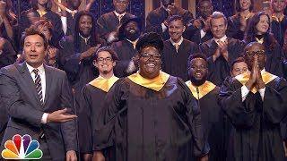 Jimmy Fallon Announces $1M Donation to J.J. Watt Invites Houston Choir to Sing Lean on Me