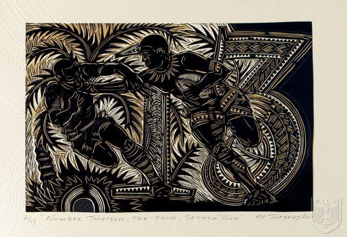 Lakapi 'fifteen aside' Woodblock Print Series (Currently Available) | Michel Tuffery