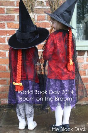Dressing up as The Witch from Room on the Broom for World Book Day. More pictures on the blog