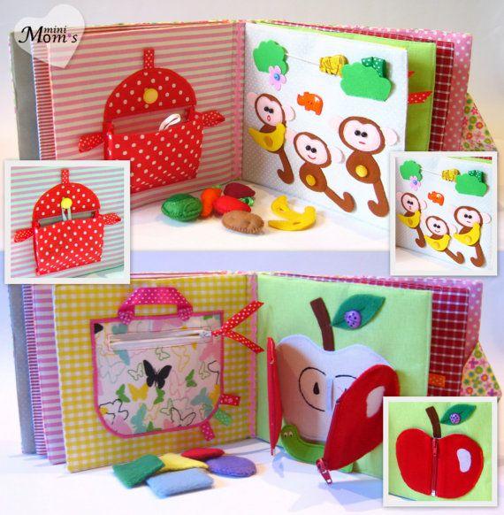Children 39 s quiet book busy book eco friendly toddler for The idea door quiet book
