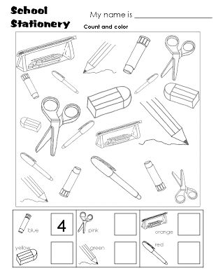 We Learn English: Classroom Objects - Worksheets