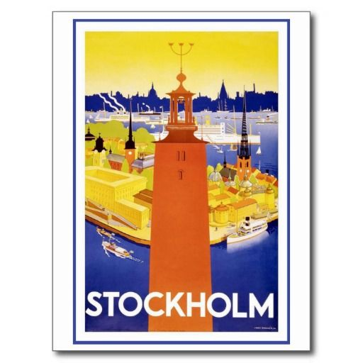 Stockholm vintage Suède Cartes Postales | Zazzle