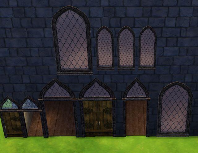 Sims 4 Doors And Windows Set Cc
