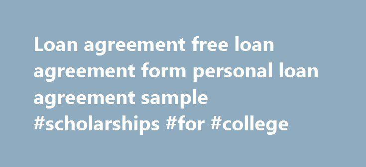 Loan agreement free loan agreement form personal loan agreement - free personal loan agreement form