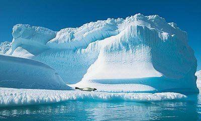 Las zonas desérticas polares son áreas con una precipitación anual de 100 a 200 mm