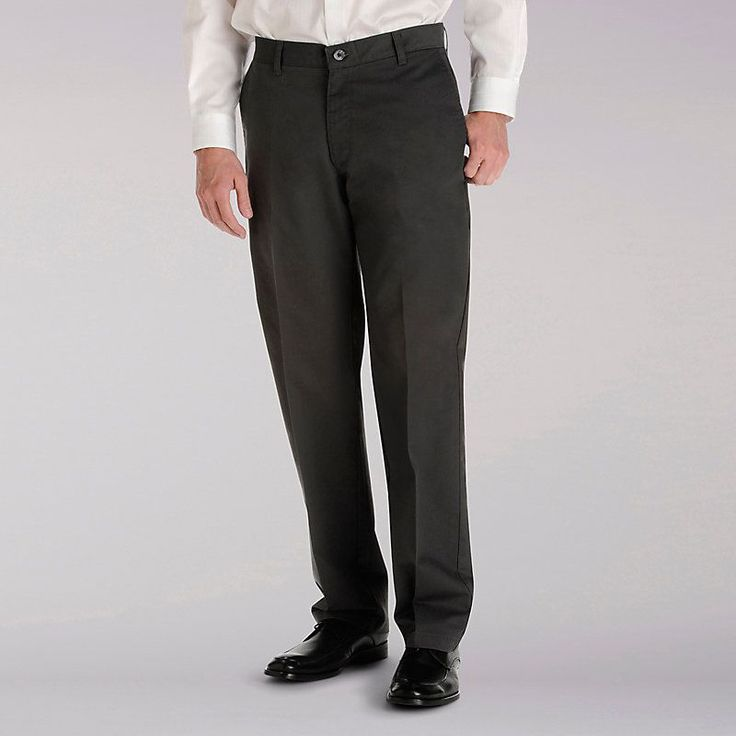 Lee Men's Total Freedom Flat Front Pants (Size 36 x 32)
