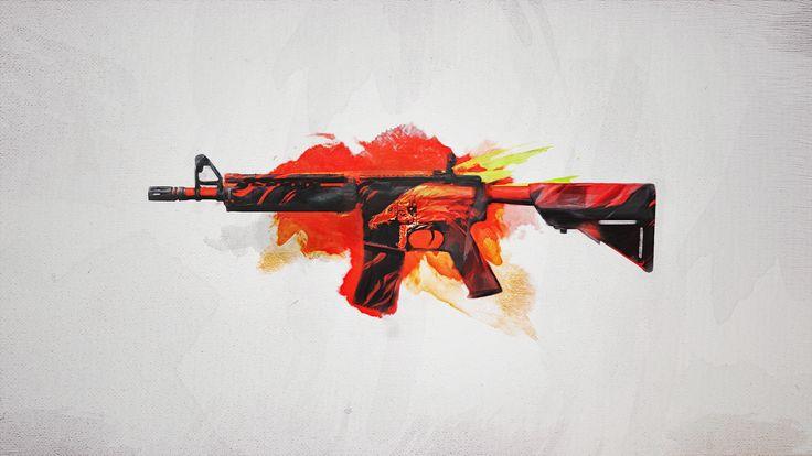 M4A4 | Howl | Wallpaper HD | Skin CS:GO |
