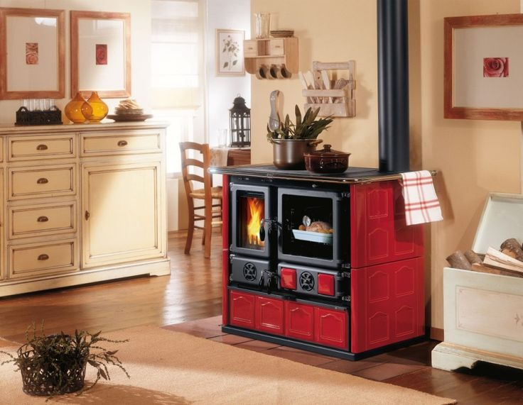 Wood Cook Stove Rosa Maiolica By La Nordica. Probably The Most Popular  Model By La