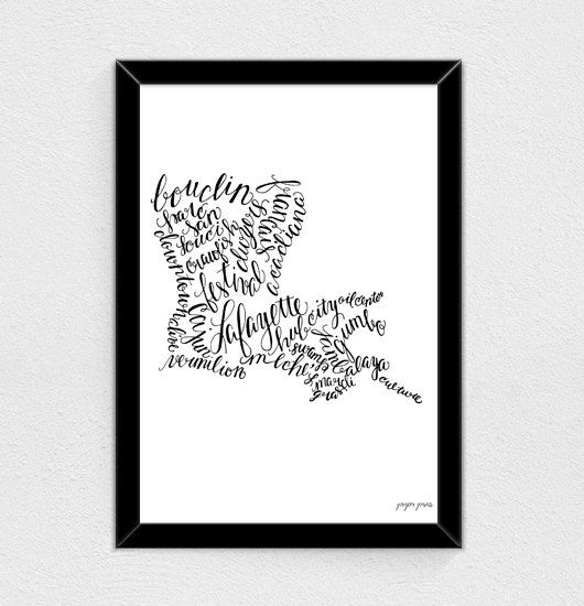 Kitchen Art Lafayette: Lafayette Louisiana Print By ProperPrintsPaper On Etsy, $8