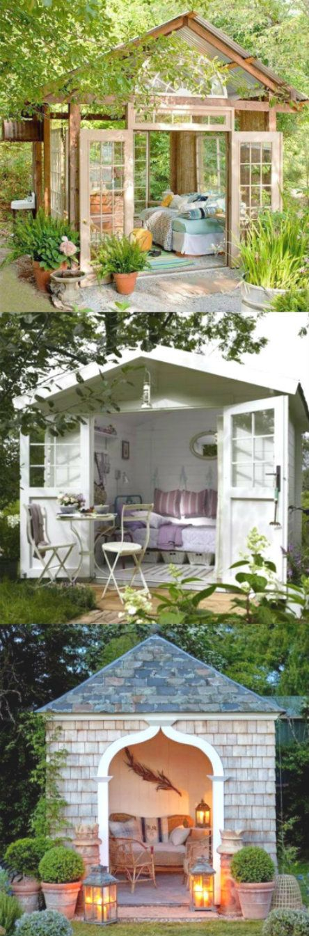 "A she shed is a little oasis that one could also call a ""zen den""."