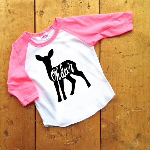 Oh Deer Infant/Toddler Tee by crewandcoshop on Etsy - hipster kid clothes, hip tees, graphic tees