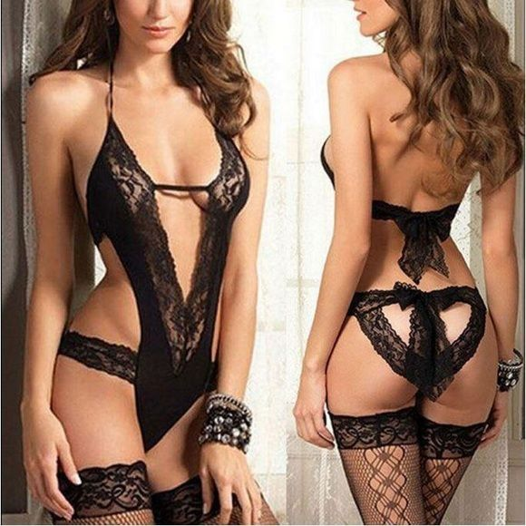 Black Lace Teddy Lingerie New Small ❤️❤️❤️ sexy classy flirty ❤️❤️❤️ this is Gorgeous! LOVE the back  Intimates & Sleepwear Chemises & Slips