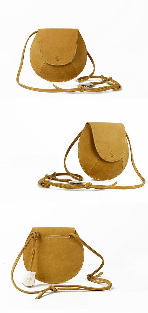 Leather Crossbody Bag-Yellow Small  Purse for Women- Stylish Designer Cross body Mini Messenger Bag- Best Quality Quarantee on Etsy, $169.99