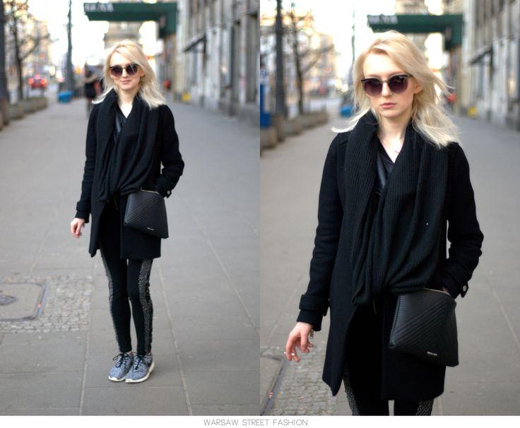 #warsawstreetfashion #warsaw #street #fashion #streetfashion #style #warszawa #ulica #moda #girl #woman #jeans #black #coat #red #lips #stylish #sunglasses