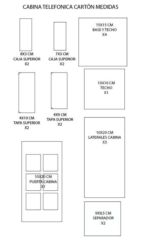 DIY para crearun Organizador cabina telefónica de cartón muy original y decorativo. Es Fácil y económico de hacer.