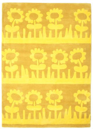 Summer Meadow / Blomsteräng Handtufted   Gelb Teppich 140x200 U003e 160,