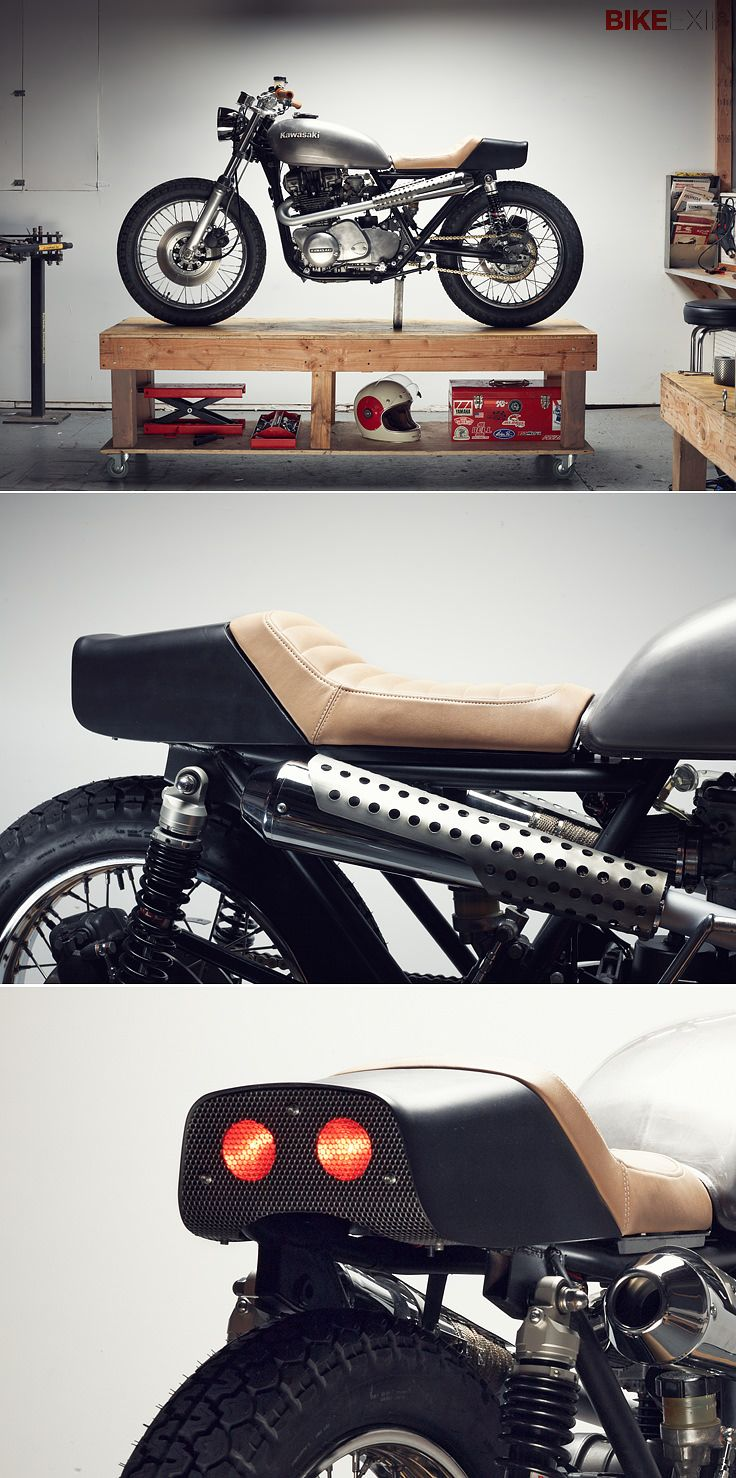 Chad Hodge, Motorcycle helmet designer, has turned his hand to building bikes. Kawasaki KZ750