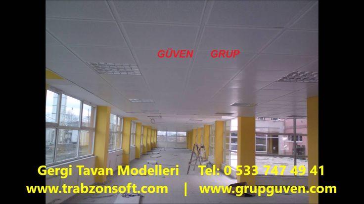 Gergi Tavan Modelleri   Trabzon Tavan Dekorasyon   Metal Asma Tavan   Ta...