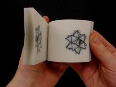 A flip book video by paper engineer, TEDx speaker, and artist Matt Shlian, who also makes paper sculptures and videos of his intricate flip books and small paper installations. A few favorites are here, here and (don't miss this one) here.