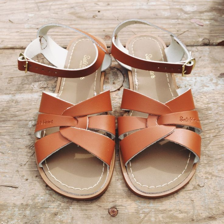 Womens Authentic Salt Water Sandal made by Hoy Shoe Company. These sandals fit true to size.