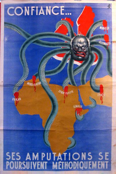 That is Churchill as the head of the octopus-July 5, 1940 - French Vichy government breaks off relations with Britain. Pin by Paolo Marzioli