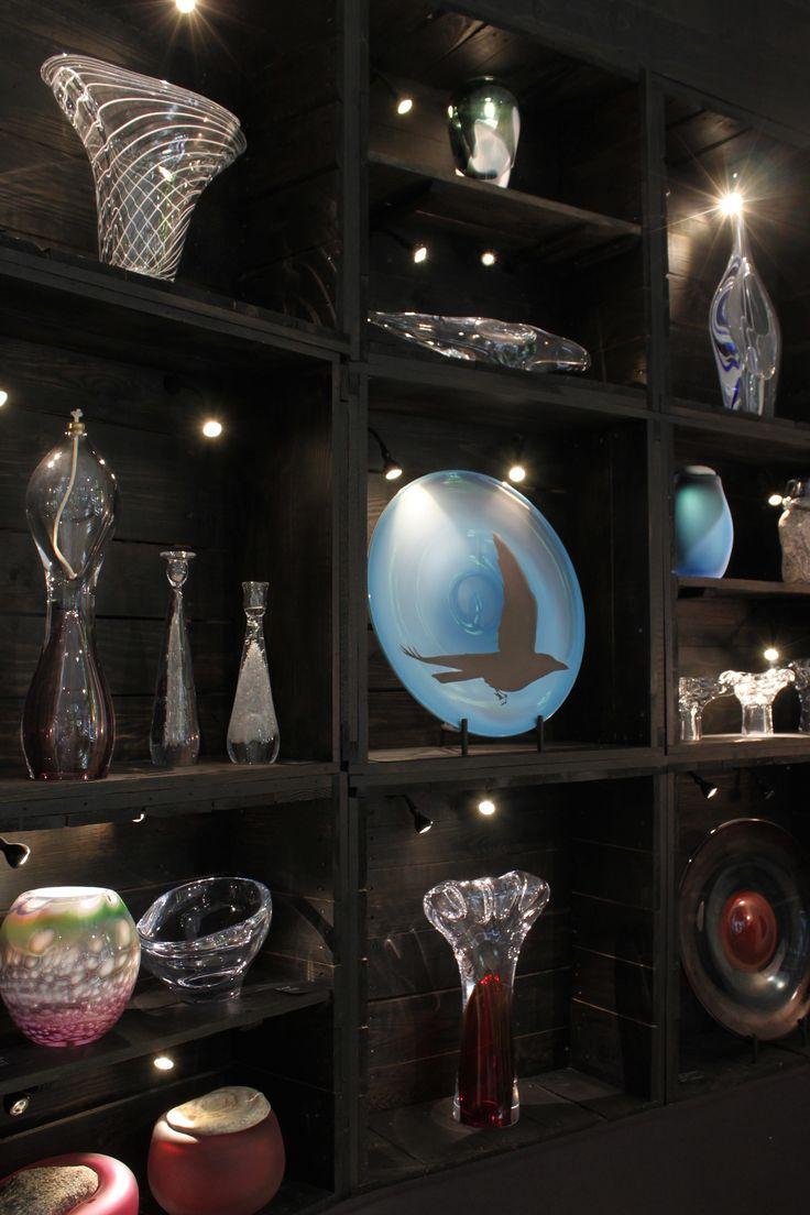 Glass art & design by glass artist Marja Hepo-aho and master glassblower Kari Alakoski at the glass studio in Riihimäki.