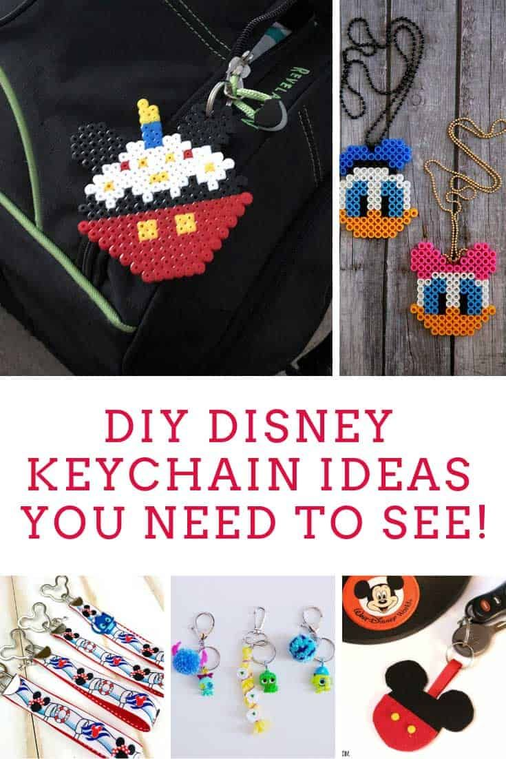 You Ll Have A Blast Making These Disney Keychains With Your Kids Disney Diy Disney Gifts Diy Disney Crafts For Adults