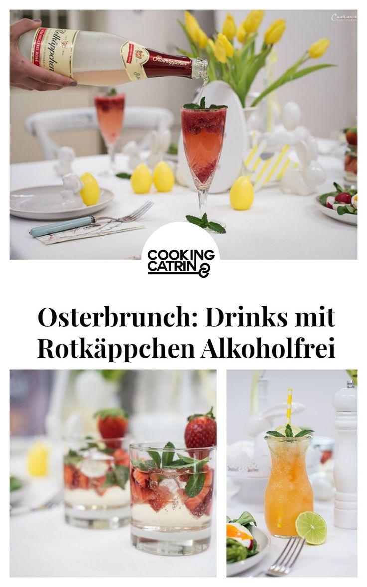 Osterbrunch, Drinks, alkoholfrei, Rotkäppchen Alkoholfrei, Rotkäppchen Sekt, Sekt, Prosecco, alkoholfreie Drinks, mochtails, alcohol free drinks, easter brunch recipe, osterbrunch rezepte, easter brunch, brunch drinks, brunch getränke...http://www.cookingcatrin.at/osterbrunch-mit-rotkaeppchen-alkoholfreien-osterdrinks/