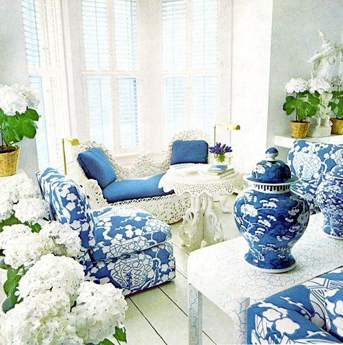 683 best Blue and White Decorating images on Pinterest Pretty in Blue and White. Blue And White Living Rooms. Home Design Ideas