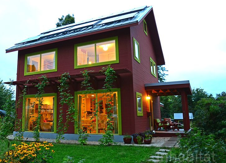 Passive House, which is heated with the same energy required to run a hair dryer!