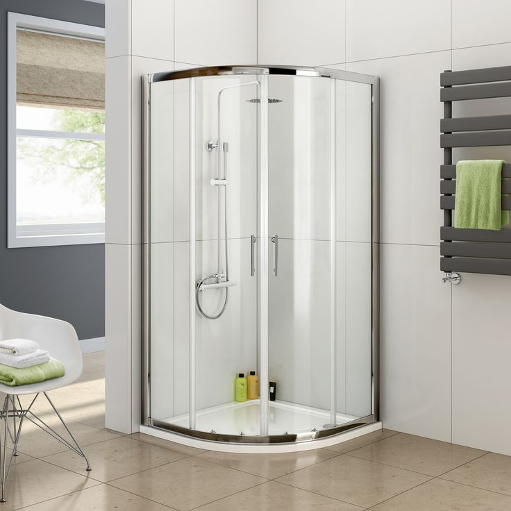 Quadrant Shower Enclosure Tall Walk In Cubicle Glass Door + Tray and