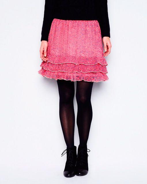 La Redoute Blommig kjol med volanger i färgerna Mönstrad inom $TopCategory - La Redoute