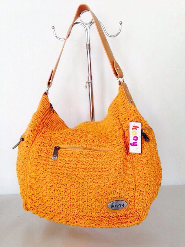 Pocket 3 Kuning // Ukuran: 48x30x14cm // IDR: Rp 295.000  #katalog #tasrajut