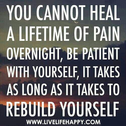 Heilung beginnt erst wenn du realisierst,das du deswegen alles verloren hast...