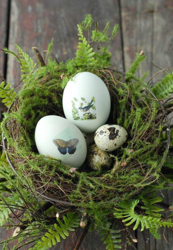 Ninho de Páscoa rústico | Eu Decoro