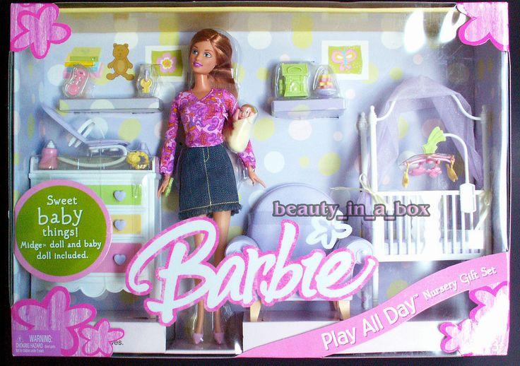 Midge & Baby Barbie Doll Happy Play All Day Nursery Gift Set Family Playset
