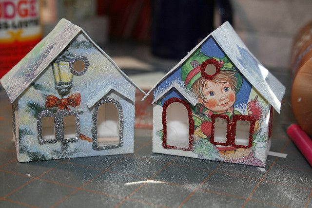 Christmas card putz houses | Christmas Notebook
