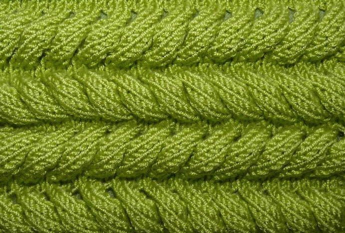 """Узор """"Азиатский колосок"""",основы и схема вязания"""