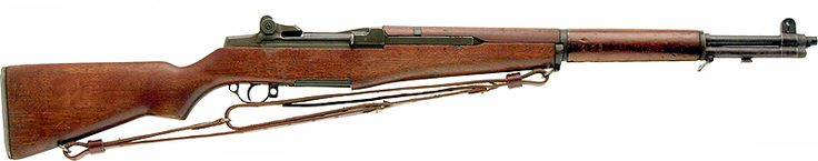 M1 Garand semiautomatic Rifle with leather M1917 sling - .30-06