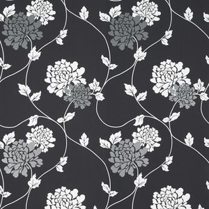 Isodore Charcoal Floral Wallpaper