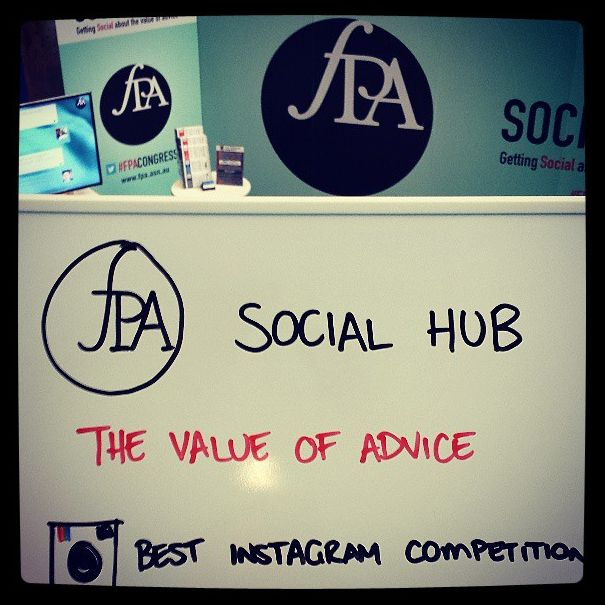Getting ready for the Instagram competition at the Social Hub!