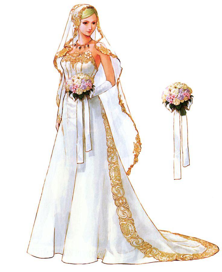Aya Brea, Parasite Eve, The 3rd Birthday, Tetsuya Nomura, wedding dress, bouquet